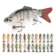 Custom 10cm 17.5g  Artificial Bass Fish Lure Swimbait 6 Segmented Multi Jointed Hard Fishing Lures