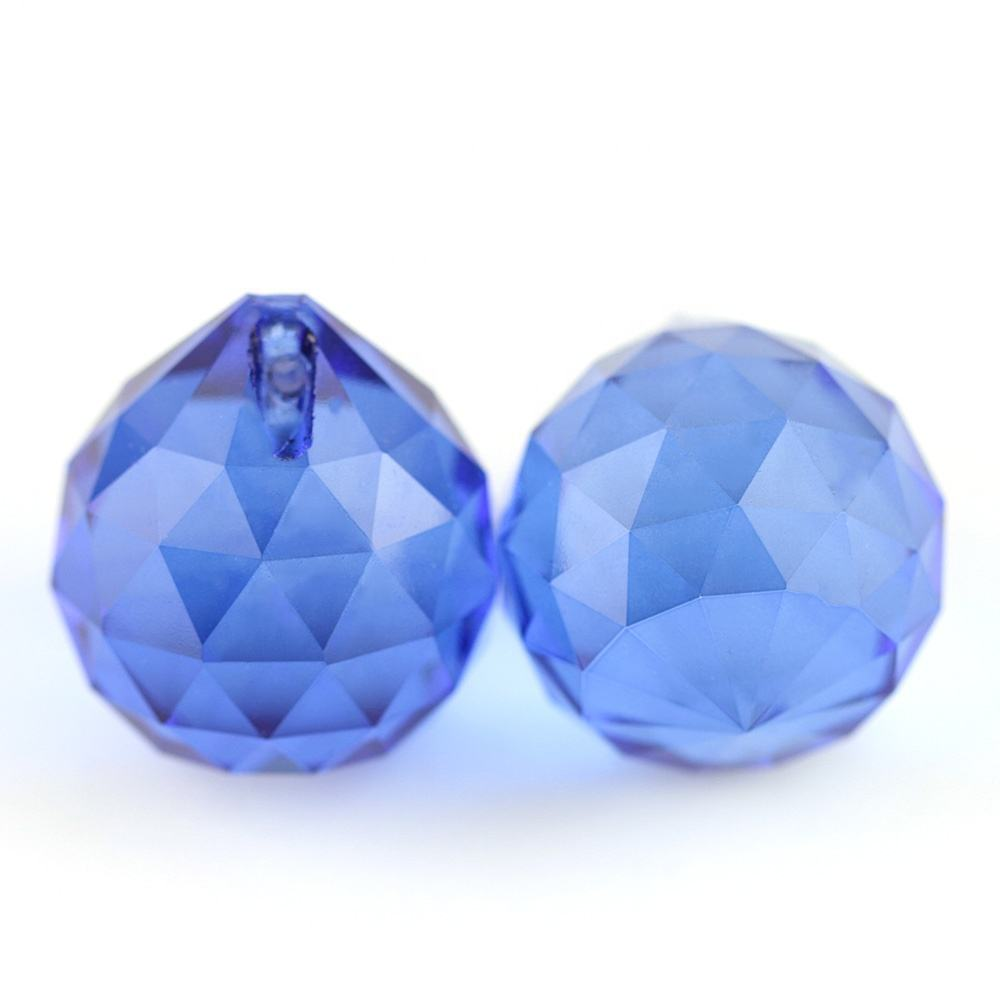 Machine-Cut Faceted 30mm 50units Blue/Sapphire Crystal Chandelier Balls