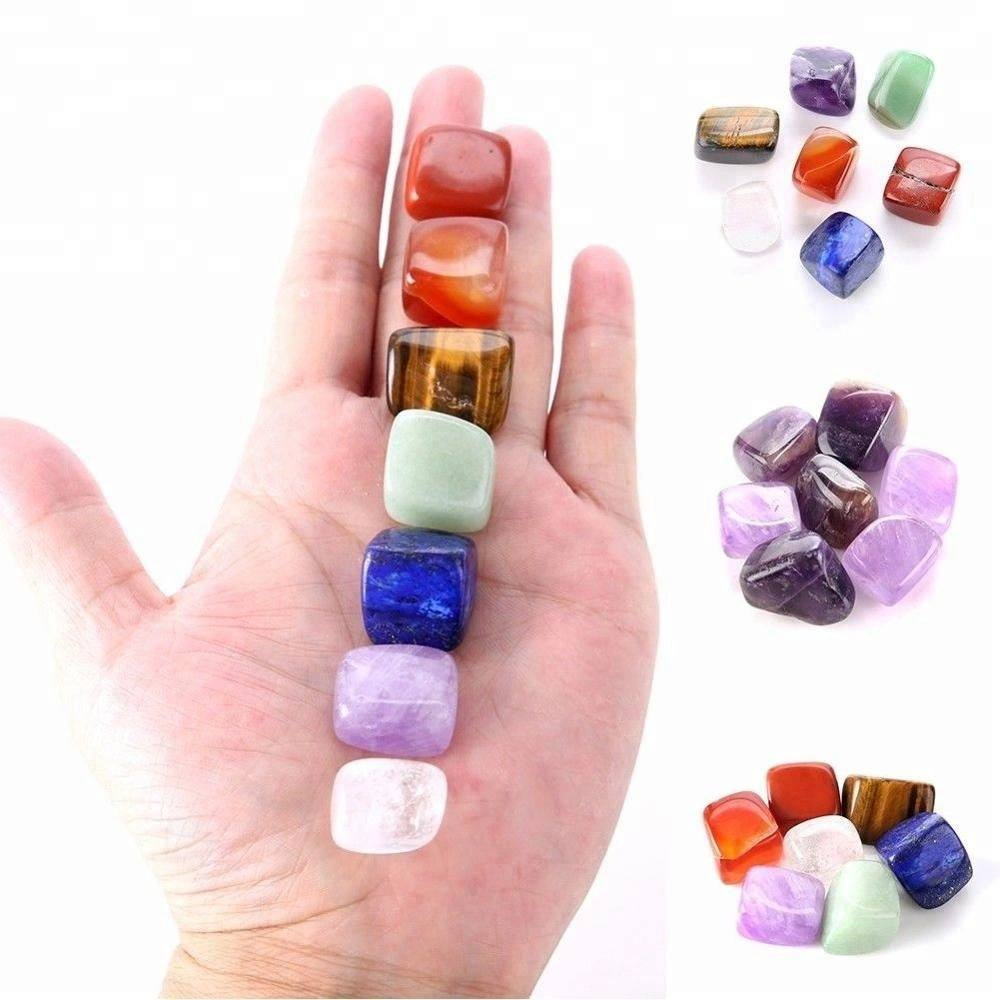 7 Chakra Gemstones tumbled Natural Stone Reiki crystals healing stones for healing gifts