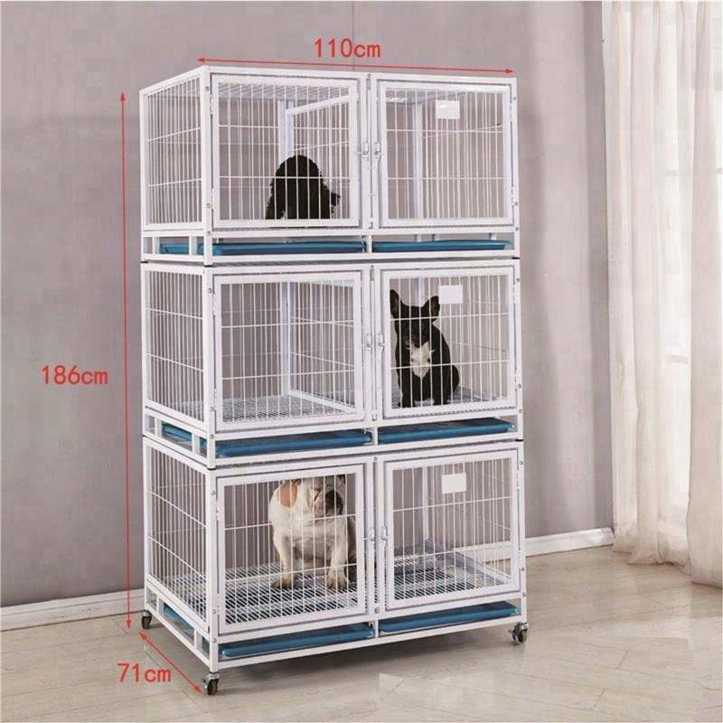 Fashional hot selling foldable wire iron dog cage pet crate rustproof metal dog cage