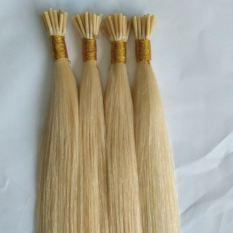 Brazilian remy hair extension prebonded human hair I tip U tip V tip keratin hair