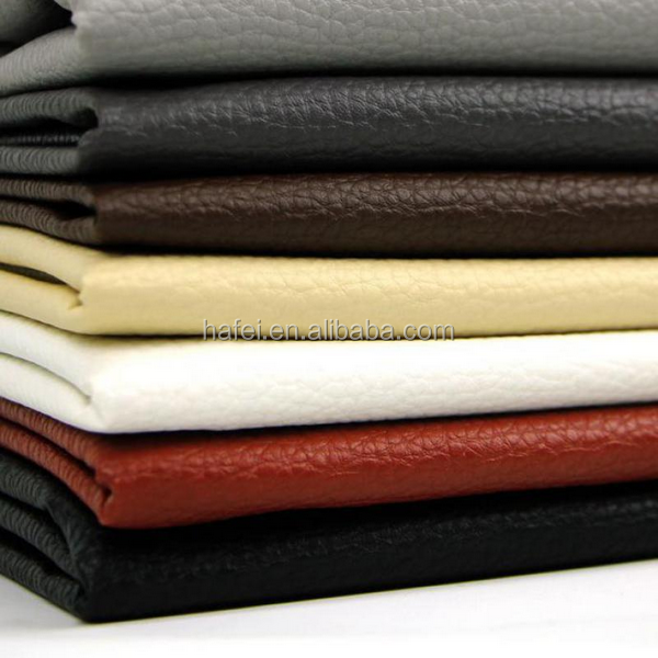 modern suede sofa Pu vinyl leather upholstery material furnishing fabric