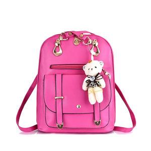 Xinmei01556830 al por mayor Indonesia Venta caliente de moda de las señoras baratas Jing Pin bolsas mochila con oso Decoración