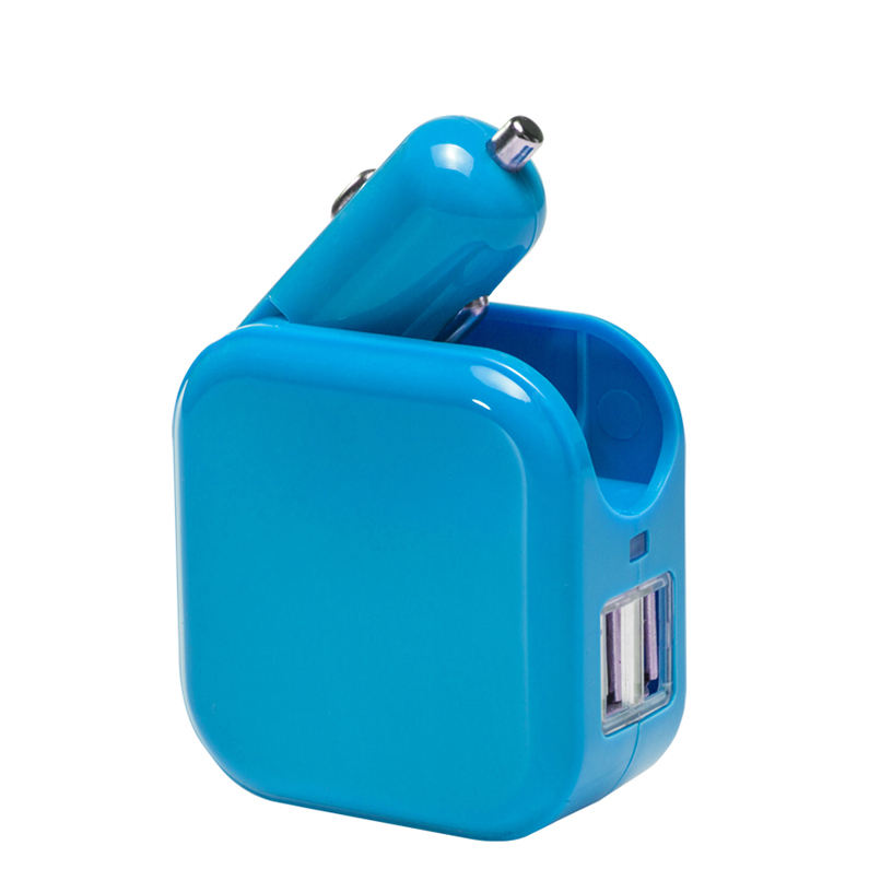 Ganda 2 Port USB Charger Mobil dan Rumah Travel Dinding Adapter US/EU/UK plug
