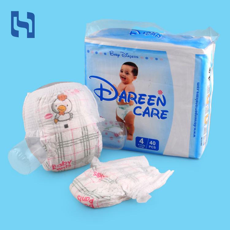 Super absorbent 3D 물 컵 예방 baby 웰빙의 경제 elastic waistband training pants 기저귀