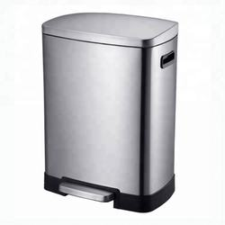BX Group popular 50L high quality pop up trash can with foot pedal for hospital/step rubbish bin/satin garbage bin