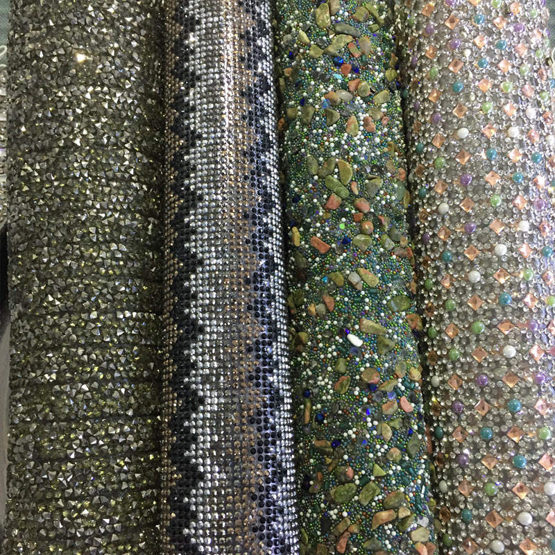 Factory custom adhesive rhinestones crystal strass beads transfer sheet rhinestone diamond panels