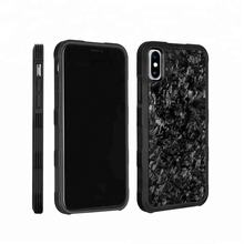 2018 Fashionable Mobile Accessories Full Protection Case for iPhone XS/XS Max/XR with Forged Carbon Fiber