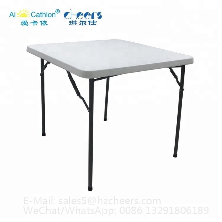 HEAVY DUTY 86CM  SQUARE FOLDING TABLE CAMPING PICNIC BANQUET PARTY GARDEN TABLES