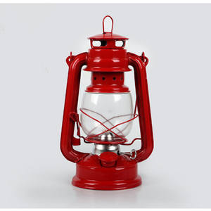 High quality windproof decorative oil lantern Led camping light with metal handle