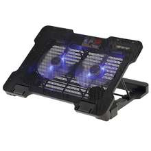 "New Laptop USB Cooler Pad Cooling Base Chill Mat Radiator with Two 140mm LED Fans 5 Angles for 12""-15.6"" Notebook"
