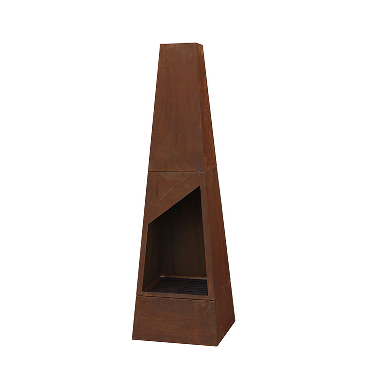 Outdoor Hot Selling Rust Corten Steel Fireplace for Wood Burning