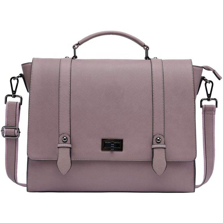 15.6 Inch Laptop Business Work Crossbody Bag College Satchel Purse Women Tote Handbag Travel Tablet Notebook Leather Briefcase