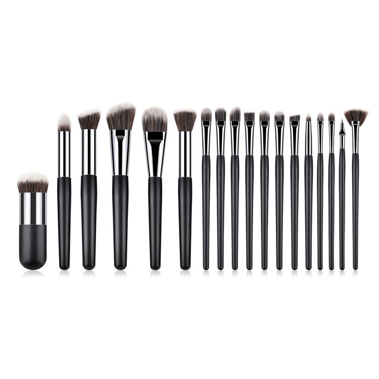 Wholesale New Black Makeup Brush Tool Sets Kabuki Brush 18 PCS