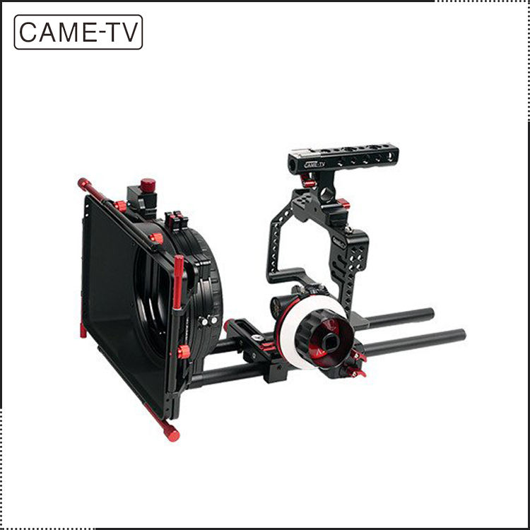 CAME-TV 보호 케이지 <span class=keywords><strong>DSLR</strong></span> 카메라 조작 GH5 카메라 Mattebox 포커스