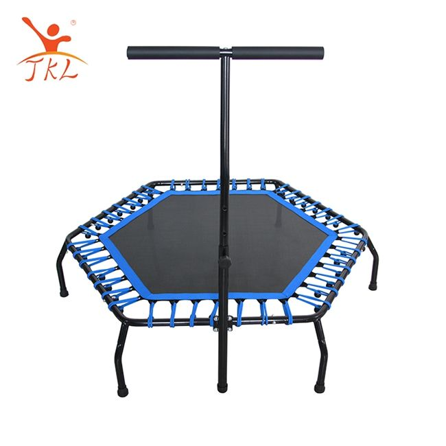High elastic ropes 50 inch hexagonal fitness trampoline