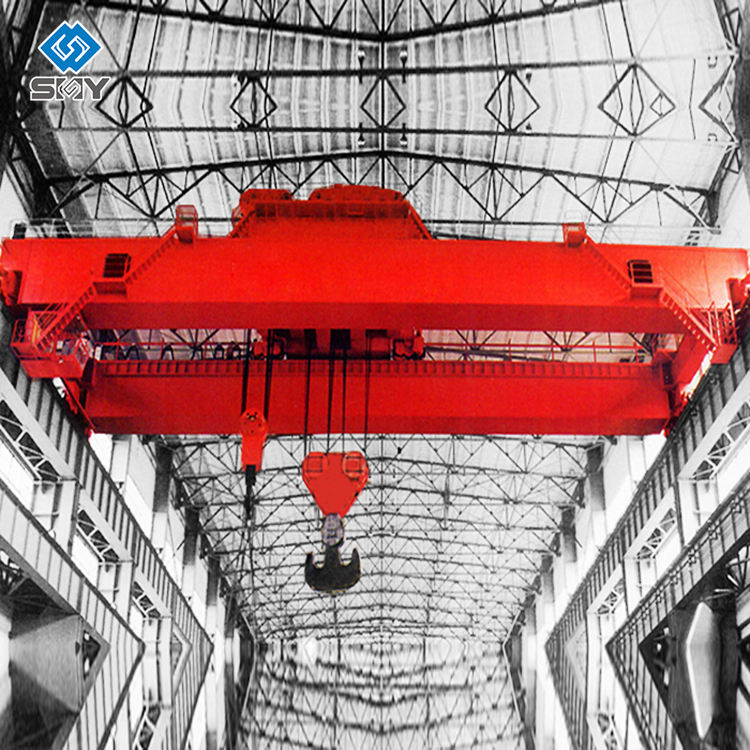 Heavy-Duty 80 Ton Double Girder Electric Overhead Traveling Crane for Material Handling Equipment