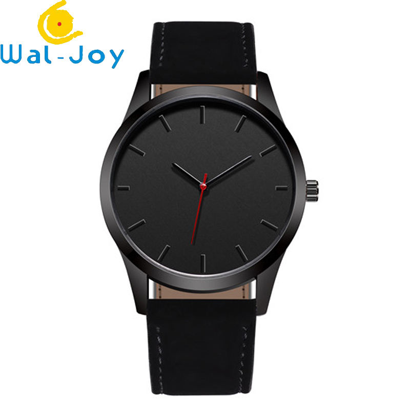 WJ-7126 Custom Logo Leather Band Watches In Yiwu Factory Small Stock Handwatches Wrist Watches
