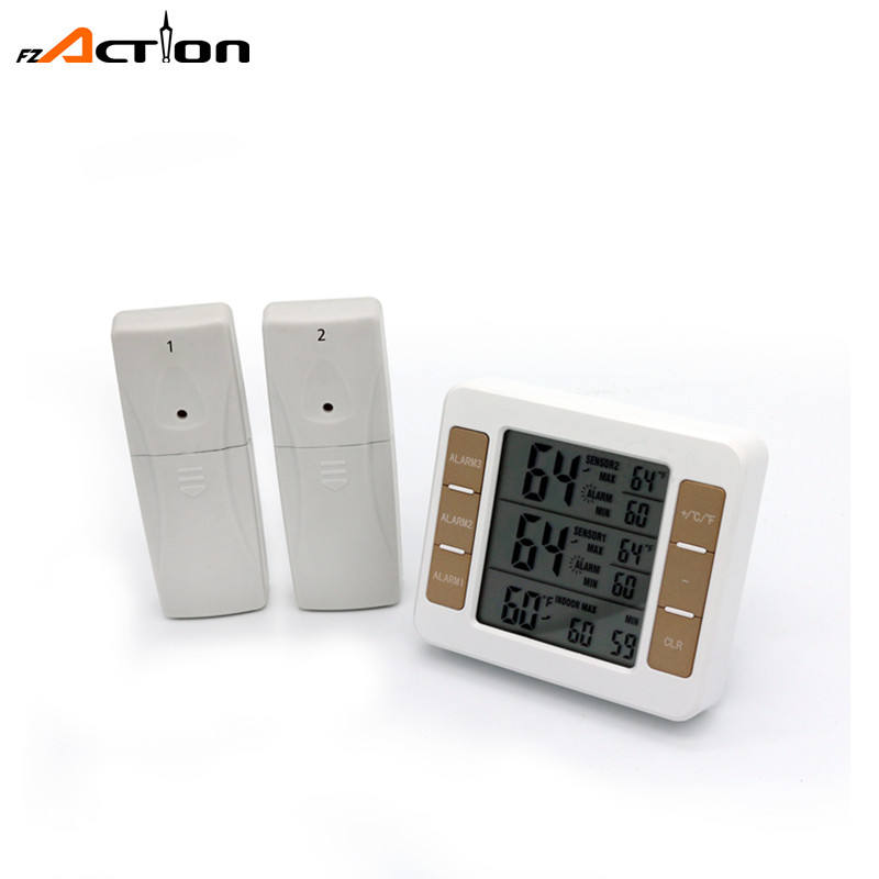 digital thermometer indoor and outdoor temperature with two sensors