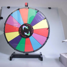 EASTOMMY   Spinning Prize Wheel 14 Slots with Color Dry Erase Trade Show Fortune Spin Game