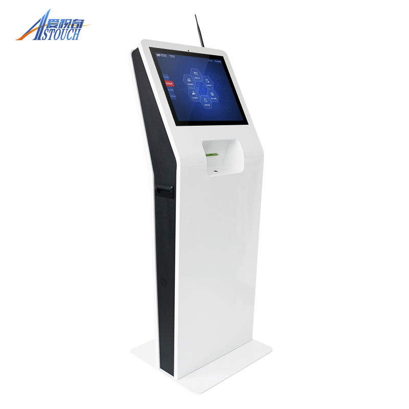 15/17 Inch Government Facial Recognition Self Service Touch Screen Payment Kiosk With printer, camera