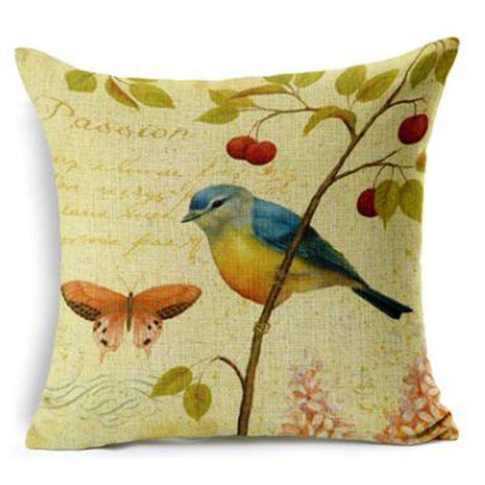 Super September hand painted style throw pillow case cushion cover fashion design