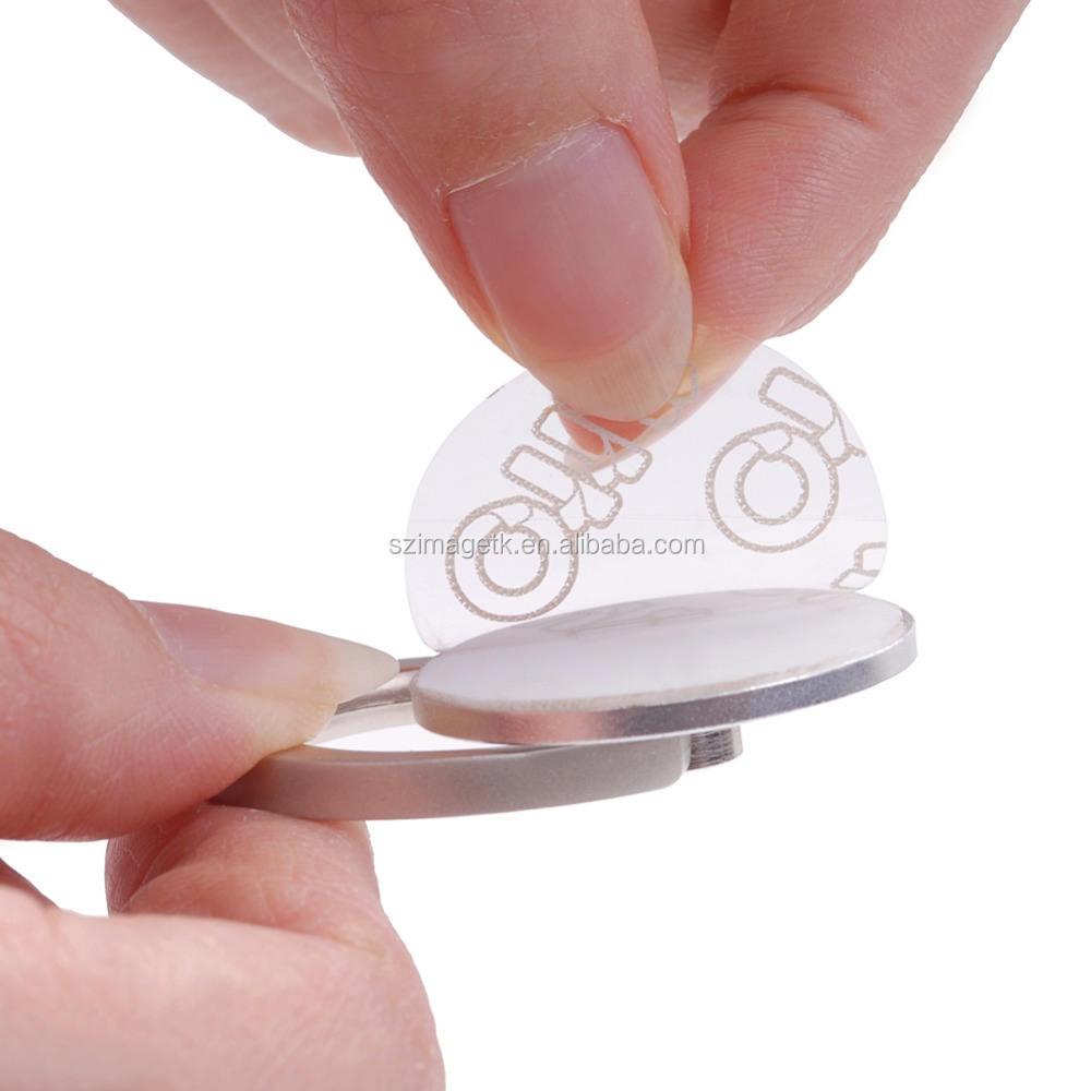 الغراء الساخنة التي يعاد استخدامها 2015 حلقة معدنية حامل الهاتف الذكي الهاتف التعامل مع قبضة قبضة الأصابع الدورية حامل لسامسونج