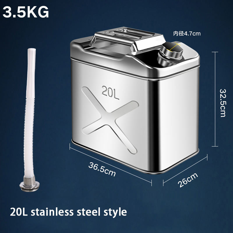 10L 20L 30L American Type Military Portable Mini Stainless Steel Petrol Oil Jerry Can