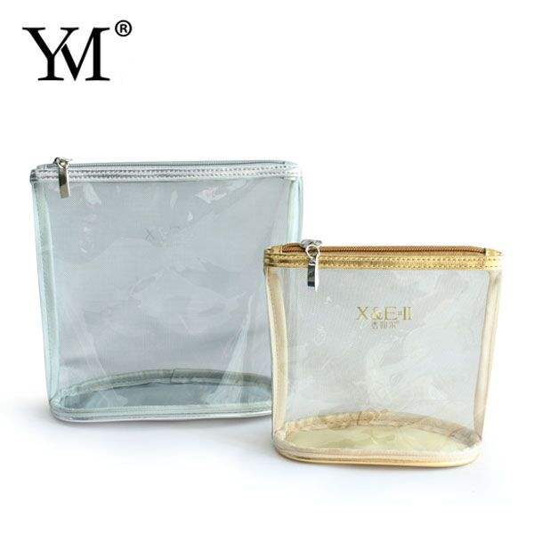 Linen [ Wholesale Handbag ] Manufacturer Make Up Bag Clear Wholesale PVC Handbag Lady Make Up Bag From Yumei