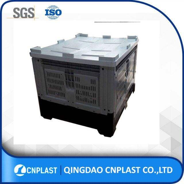 Large Plastic Crate Heavy Duty Large Vented Food Grade Pallet Crates Plastic Folding Fruit Bins For Sale