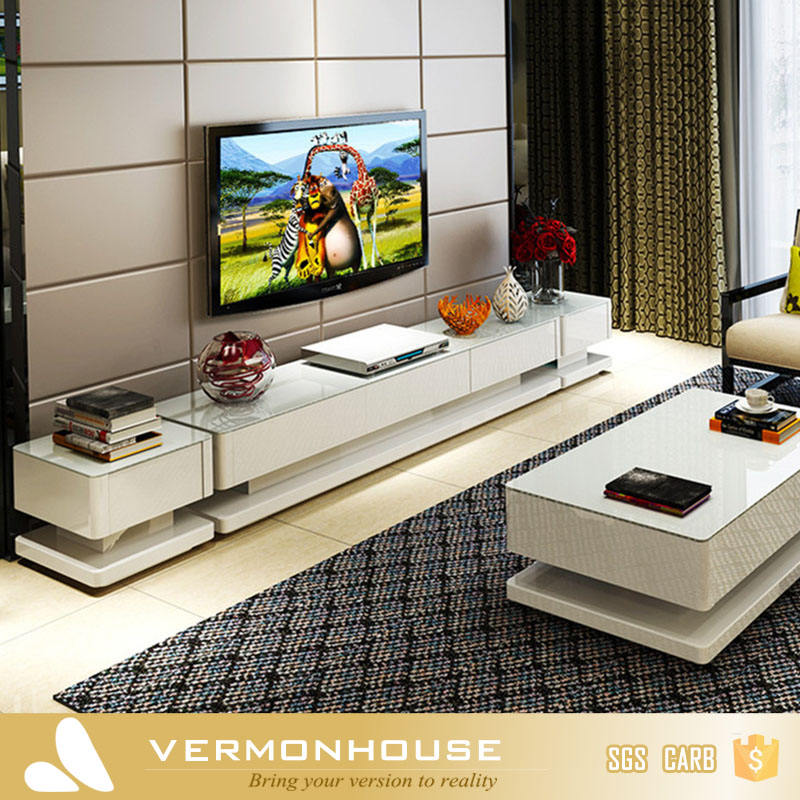 2018 Hangzhou Vermont White Gloss Lacquer TV Cabinet For Living Room Furniture