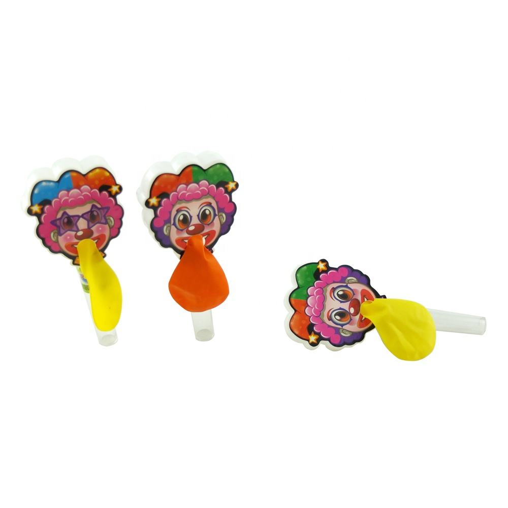 Tray packing clown cartoon candy plastic toy candy balloon toy with sweets
