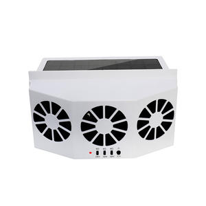 latest version three fans Solar Sun Power automatic Car Auto cool cooler fan