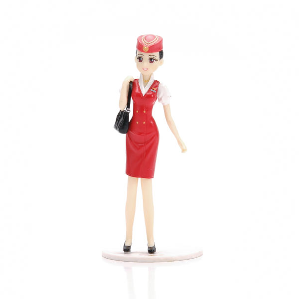 Personalizzato bella di plastica air hostess action figure