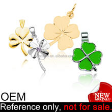 Customized Silver Lucky Custom Gold Clover Pendant