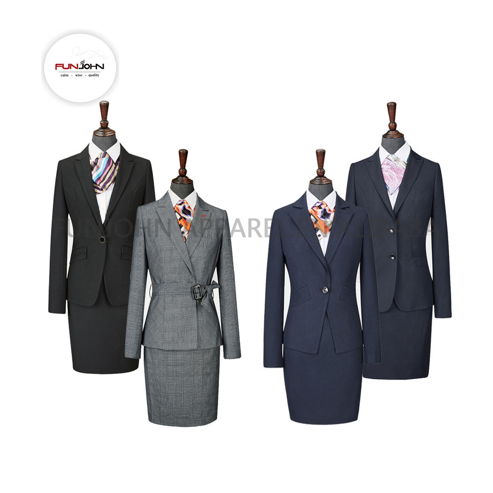 made in china TR fabric 3 piece suit women business suits for women formal