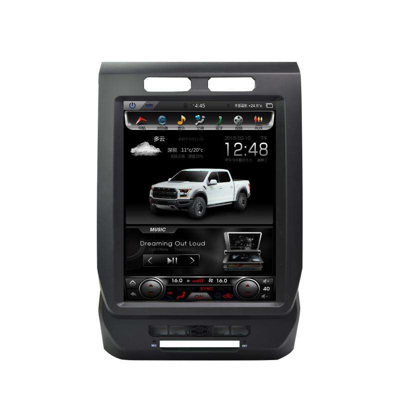 "Vertikale Bildschirm Tesla Stil android 7.1 12.1 ""touch screen auto <span class=keywords><strong>dvd</strong></span> für ford f150 4g 2014 2015 2016"