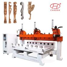 China Price Multi Head 4 6 8 10 12 Rotary ATC 5 Axis 3D Wood Korea CNC Router Machine 8 Heads Woodworking