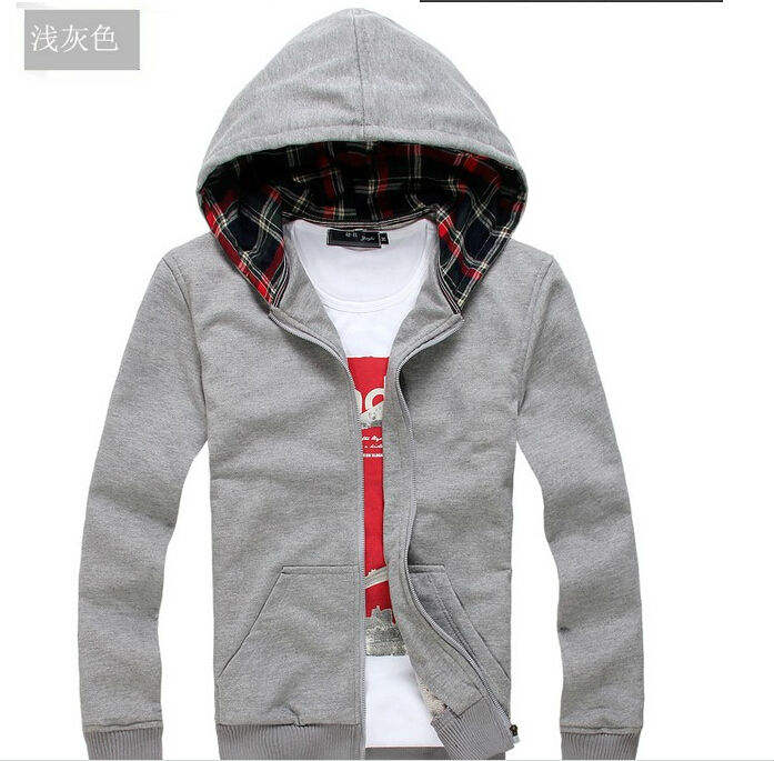 Hot sale free sample Mens Hoodies and Sweatshirts autumn winter lovers casual with a hood sport jacket men's coat