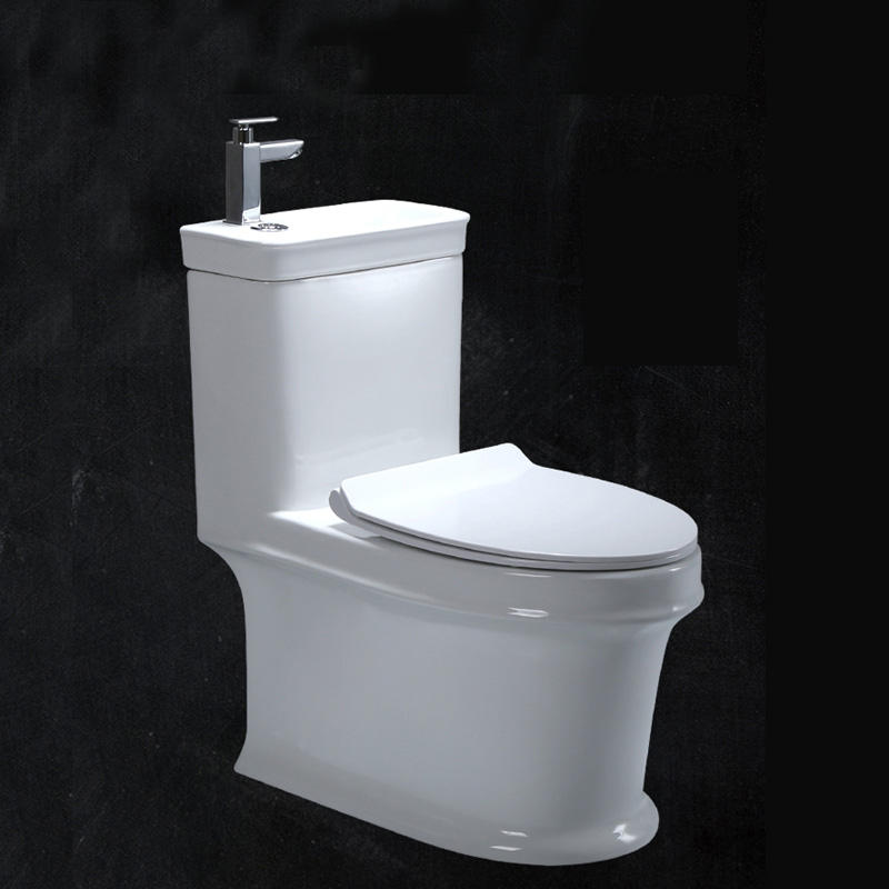 New style bathroom water closet with soft closed cover seat toilet hand wash basin M-101P