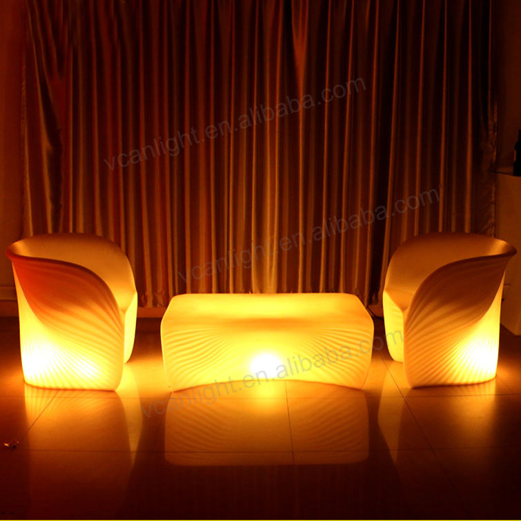Tahan air rgbw 16 warna ubah led light sofa kursi