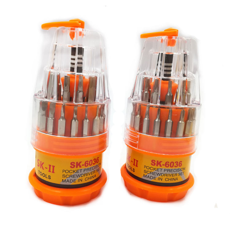 Supermarket daily house multifunction 31 in 1 precision screw drivers bits sets phillips magnetic screwdriver set