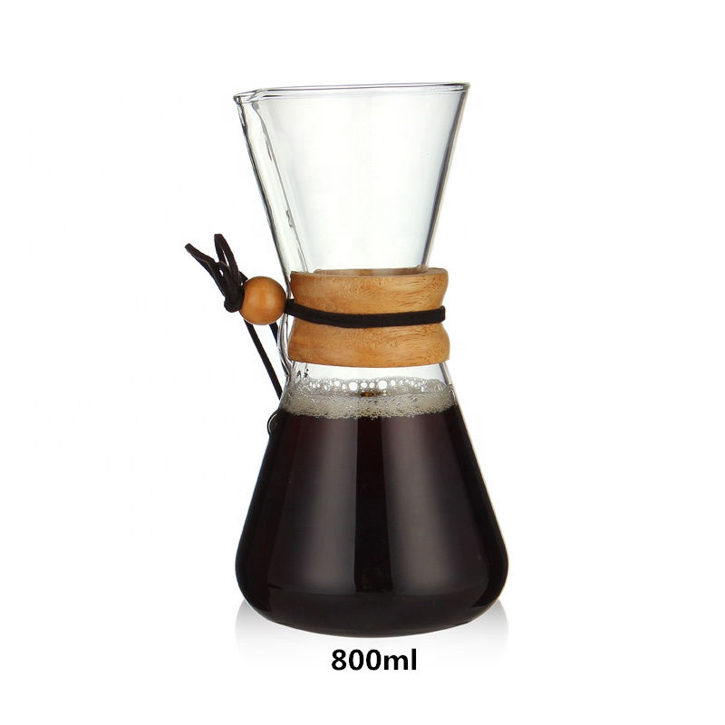China Wholesale Custom Handmade Glass Pot 800ML Family Use Heat Resistant Coffee Pot