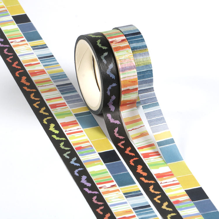 10mm Manzawa Custom papier großhandel halloween washi band