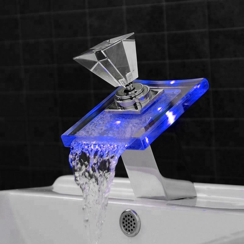LED Glass Waterfall Tap 8006-007B