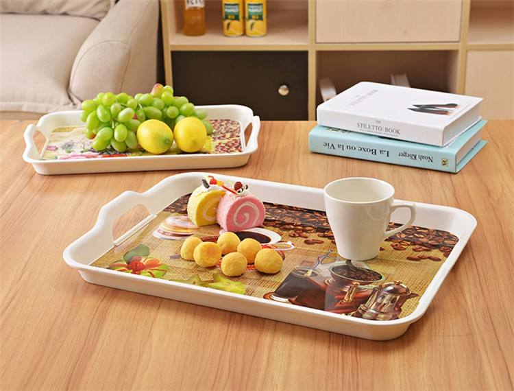 Food Grade Cute Neat Durable Design Reusable Lunch Trays