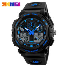 Skmei factory double time waterproof men's digital analog sport watches