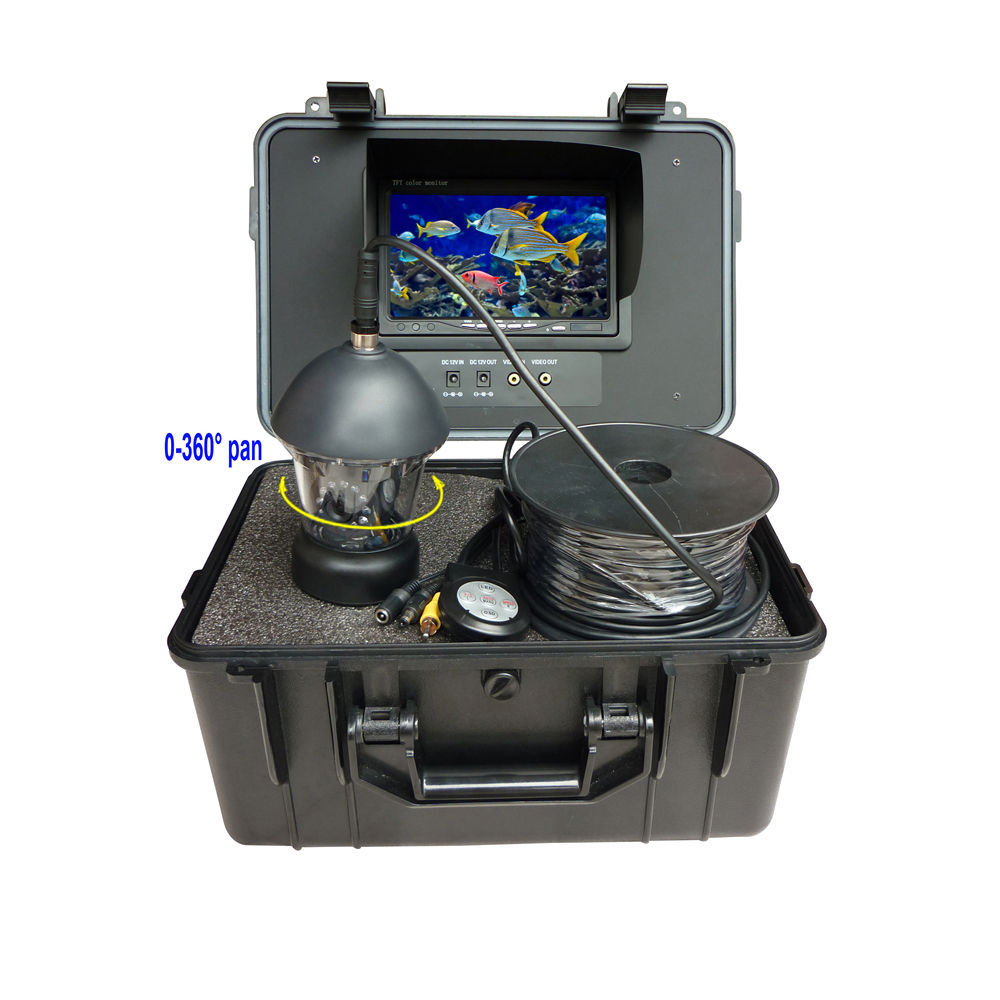 Good Quality Fish Finder 7 Inch Monitor 360 Degree Rotating Underwater Fishing Camera Kit With 12Pcs White LED Lights