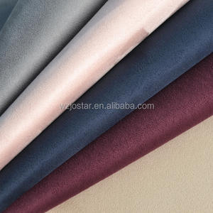 JOSTAR Wholesale China Textile Artificial Suede Fabrics SGS EN Shoe Fabric  New 100% Polyester PU Suede Leather For Shoe