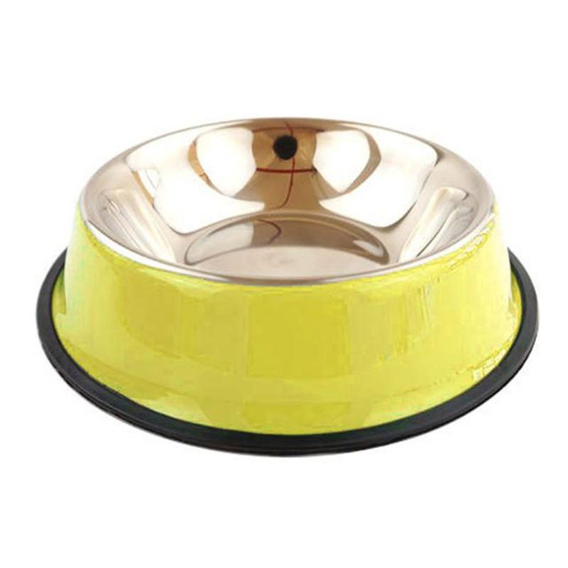 Colorful Stainless steel Pet Bowl Metal Water Food Dog Bowl for Pet